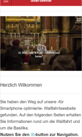 mobile Wallfahrtswebseite