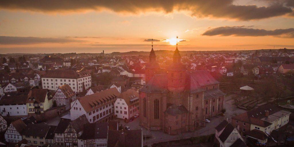 Basilika Walldürn Luftaufnahme