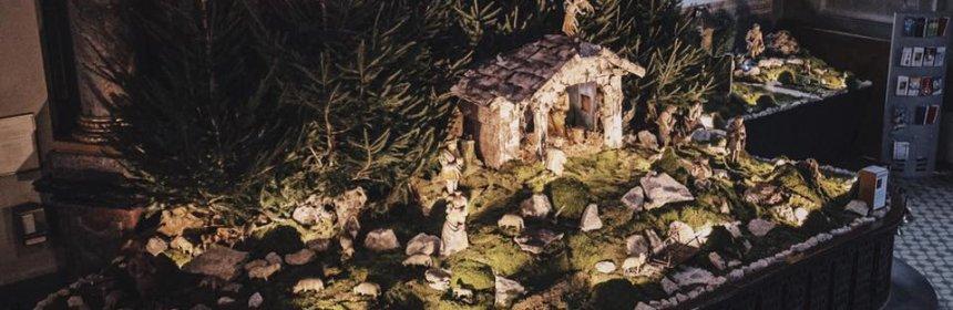 Weihnachtskrippe in der Wallfarhtsbasilika Walldürn