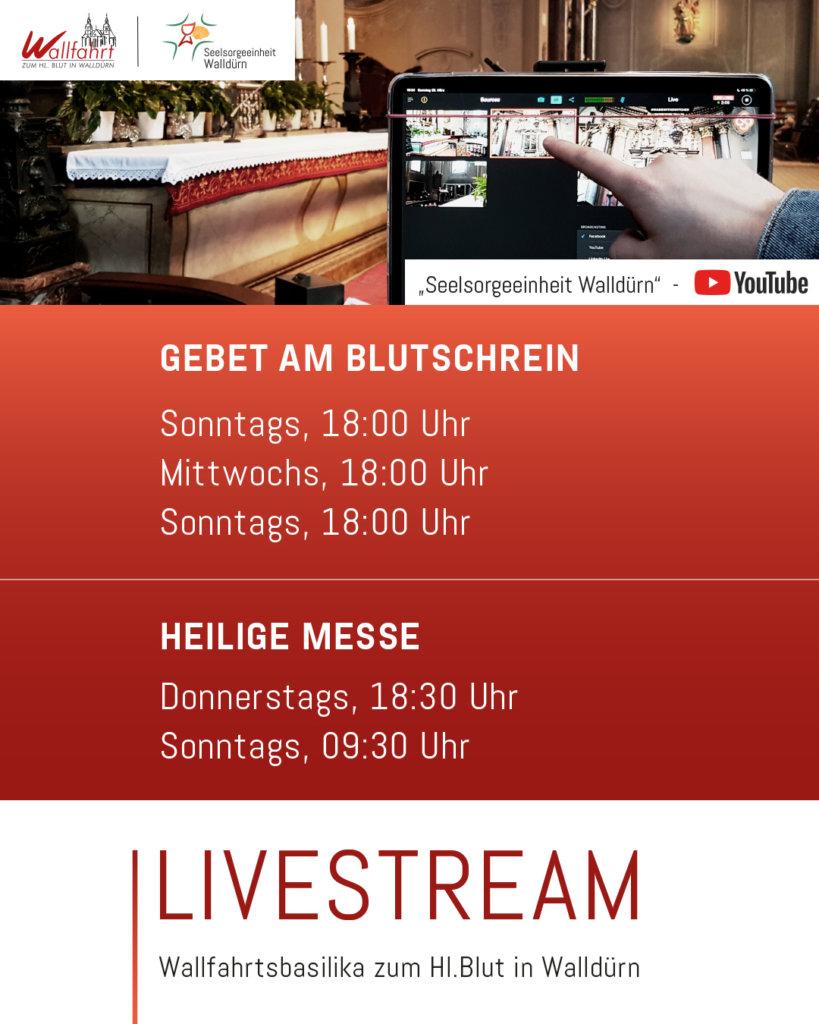 Ankündigung Livestreams auf YT