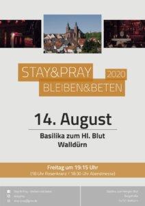 Stay & Pray Walldürn- Flyer für August 2020