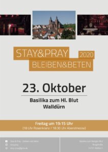Ankündigung Stay & Pray Walldürn im Oktober