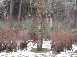 Das rote Kreuz (Arma Christi Kreuz) zwischen Glashofen und Walldürn